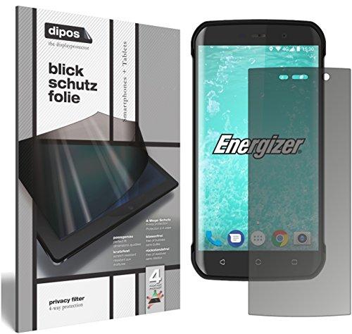 dipos I Blickschutzfolie matt passend für Energizer Hard Case H550S Sichtschutz-Folie Bildschirm-Schutzfolie Privacy-Filter
