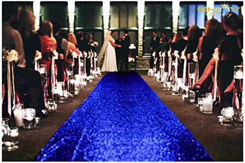 nfarbene Gänseläufer für Hochzeiten, 120 x 450 cm, elfenbeinfarben, königsblau, 4FTx35FT ()
