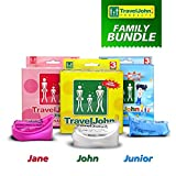 Travel John Einweg Urinal Familie Bundle