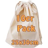 Cottonbagjoe Baumwollbeutel mit Kordelzug | 25 x 30 cm | unbedruckt | Öktex-100 | Kosmetikbeutel | Sockenbeutel…