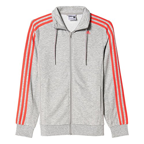 adidas AJ4729 Sweat-shirt Femme Gris/Rouge