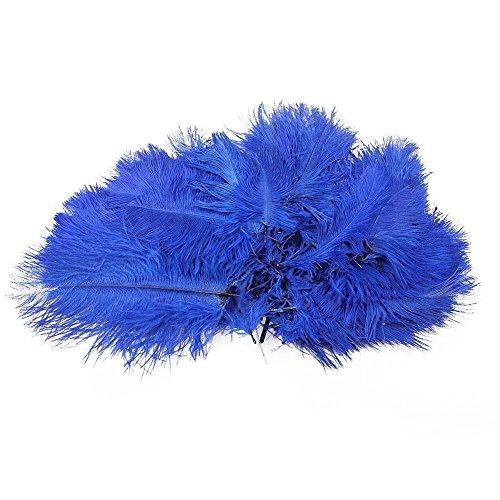Lucky Will 6-7 Zoll Naturfedern Straußenfedern Strauß Feder für Hochzeit Dekoration DIY Tiefes Blau 50 Stück (Kinder Kostüme Diy)