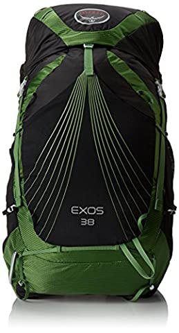 Osprey Uni Exos Backpack, Bassalt Black, 71 x 33 x 28 cm, 38 Liter