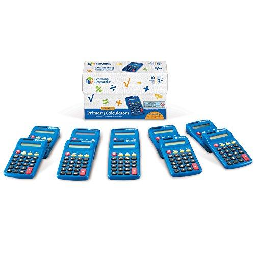 Learning Resources LER0038 Primary Calculator - Taschenrechner für die Grundschule (Set mit 10Stück) (Taschenrechner Spielzeug)
