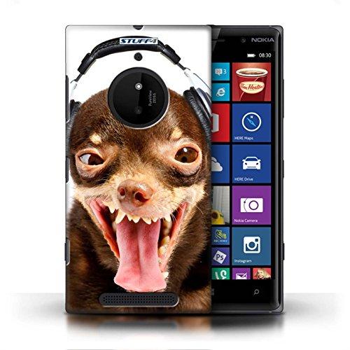Kobalt® Imprimé Etui / Coque pour Nokia Lumia 830 / Chien curieux conception / Série Animaux comiques Chien ridicule