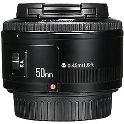 Yongnuo YN Objectif auto focus à large ouverture 50mm F/1.8 AF/MF pour Canon EF monture EOS Camera LF651