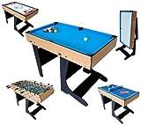 Billard Table Multi Jeux 12 en 1 Pliable - Riley