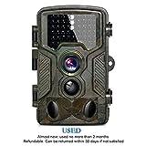 HD Trail Kamera bestou 16MP 1080P Wildlife Kamera Infrarot Spiel & Jagd Kamera mit 46PCS Low Glow IR LEDs Nacht Version bis zu 20m/20Pfadfinder Kamera mit IP66Spray Wasserdicht 130° Weitwinkel-Objektiv 120° Erfassung, USED