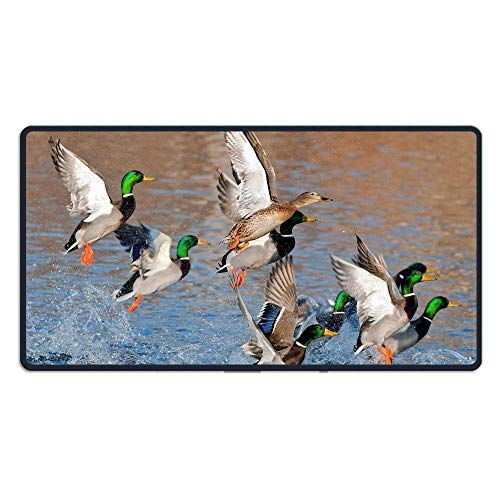 Large Ducks Flying Over Water Gaming Mouse Pad Custom Design Mouse Mat Extended XXL Size for Desk,Laptop,Keyboard & More (Vans Yoda)