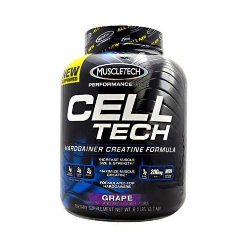 MuscleTech Cell Tech Performance Series Hardgainer Kreatin Formel, 2720g, Geschmack:Grape