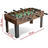 DOMENICO Fantasy Wooden Football Soccer Game Table, 81x42.5x43.5 cm (Multicolour)