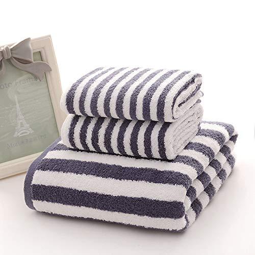Handtuchset aus ägyptischer Baumwolle, Baumwolle Hotelqualität Superweich und hoch saugfähige Handtücher Badetücher (1 Badetuch 70 * 140 cm, 2 Handtücher 35 * 75 cm). (Farbe : Blau)