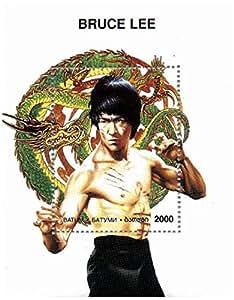 Bruce Lee timbre feuillet - Monnaie et neuf timbre feuillet - Enter the Dragon