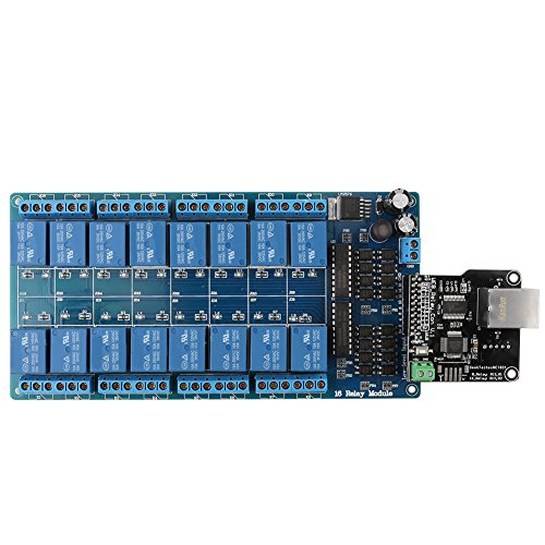 Ethernet Relais Steuerungs Steuerung Modul Board LAN WAN Netzwerk WEB Server mit RJ45 Schnittstelle + 16 Kanal Relais für Smart Home Fernbedienung - Web-xvi