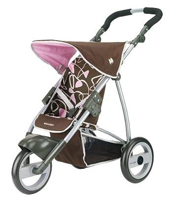 """Knorrtoys.com 71030 Maclaren """"Junior MX3"""" - Silla de paseo para muñecas (altura ajustable de 68 a 76 cm), color marrón y rosa de Knorrtoys.com"""