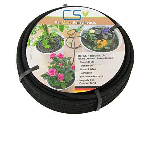 CS Mikro Bewässerungsschlauch Blumentopf, Topfpflanzen, Terrassen- und Urlaubsbewässerung 7,5m