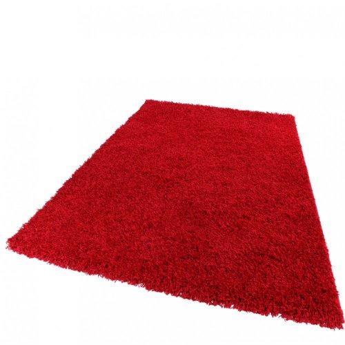 Shaggy bravo - tappeto a pelo lungo universale - rosso, dimensione:120x170 cm