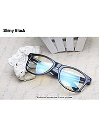 a96aa76cc2 BuyWorld Glasses for The Computer Oculos de Grau Spectacle Frame for Men  Women Transparent Eyeglasses Bluee