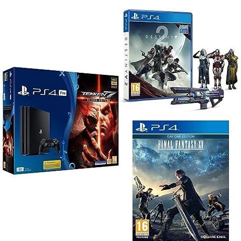 Pack PS4 Pro + Destiny 2 + Tekken 7 + Final Fantasy XV