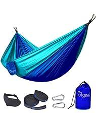 Outdoor Hängematte, Outgeek Hammock Hängematte Fallschirmseide Camping Hängematte (mit Schlafmaske)