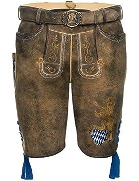 Spieth & Wensky - Herren Trachten Lederhose mit Gürtel, Bayern (292103-0886)