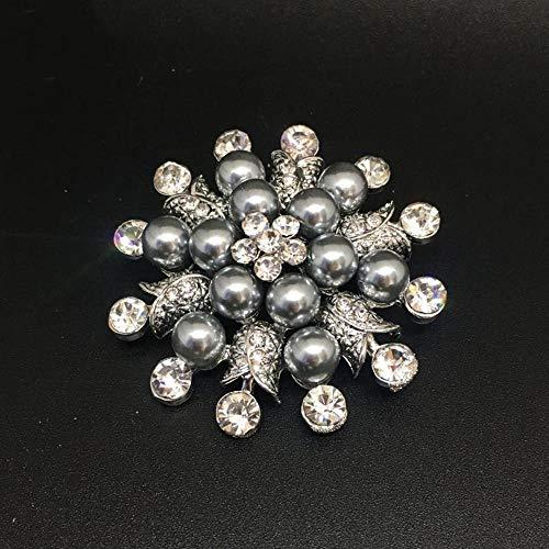 Olydmsky Blume graue Perle Mode Trend Brosche Brosche Mädchen