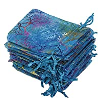 Bodhi2000 25Pcs Organza Jewelry Pouch Wedding Party Favor Gift Bag 12x9cm