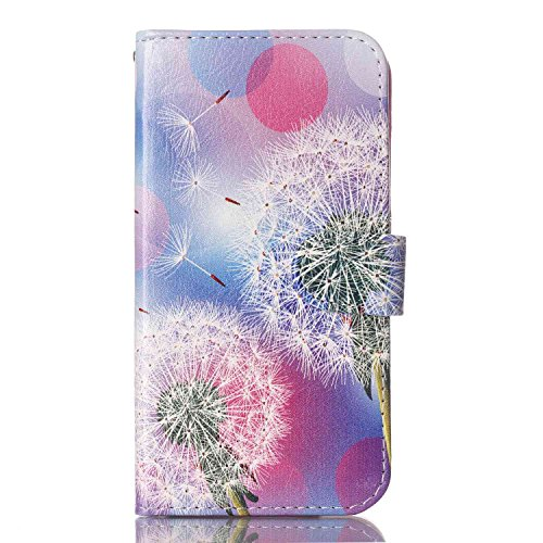 Meet de pour Apple iphone 5C Ultra Slim Flexible Transparent Soft Case / Housse / Portefeuille / Cover Étui / Housse étui - arbre blanc Dandelion Violet