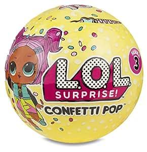 Giochi Preziosi LOL Surprise Confetti Pop con Mini Doll a Sorpresa, 9 Livelli, Modelli Assortiti