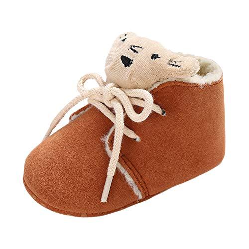 (Beikoard Baby-Baumwollstiefel Soft Bootie Kleine Bär Bandage Snow Boots Kleinkind warme Schuhe Kleinkind Schuhe Weiche Bodenschuhe)