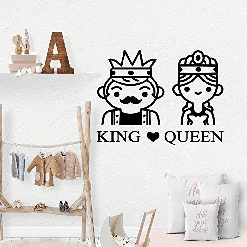 Modern King Queen Home Decor Wall Stickers per soggiorno Camera dei bambini Wall Art Sticker murales 64 centimetri x 85 centimet
