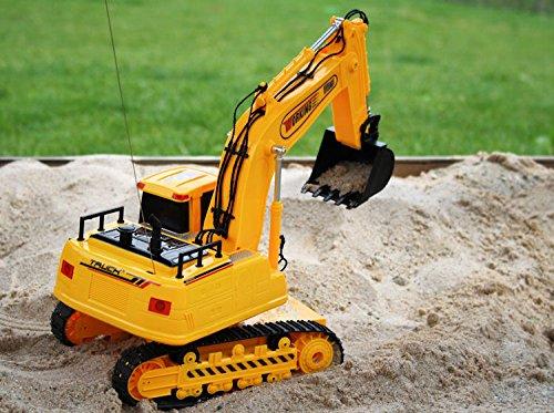 RC Auto kaufen Baufahrzeug Bild 2: Unbekannt RC Bagger DIGGER V25 ferngesteuerter Kettenbagger Schaufellader*