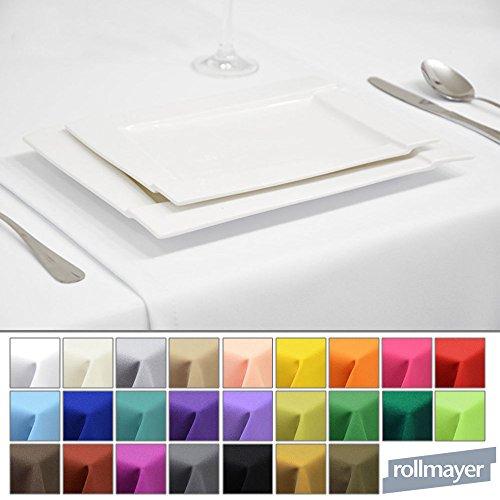 Rollmayer EDLE TISCHLÄUFER TISCHDECKE TISCHTUCH TISCHWÄSCHE PFLEGELEICHT 40 Farben (Weiß 1, 40x120cm)