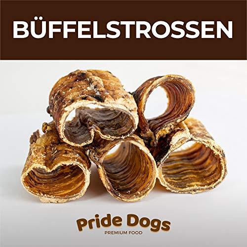 Büffelstrossen kurz 1000g der Premium Kausnack für Ihren Hund | 100% Deutsche Herstellung | im geruchsneutralen Beutel | Kauartikel von PrideDogs