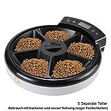 TD Design® Automatisierte Futterspender für Hunde & Katzen | Trocken- und Nassfutter – 5 Mahlzeiten, 5 x 240ml - 3