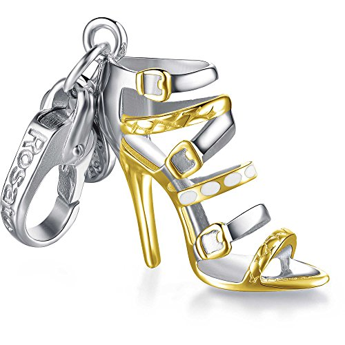 Rosato ciondolo charm my shoes sandalo con fascette dorate sh036
