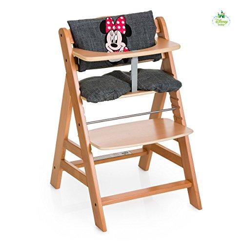 Hauck Hochstuhlauflage Luxe Minnie–Sitz-Kissen, grau