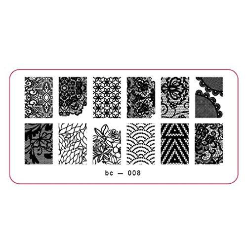 Vovotrade Nail Art Stamp image DIY Stamping Plaques Modèle Manucure(D)