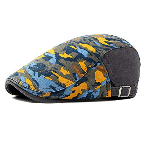 COCKCE Hochwertige Herren Plaids Entenschnabel Zeitungsjunge Gatsby Hut Mützen Golf Driving Cabbie Baskenmütze Ivy Men Casual Cool Hats Cap-Gray -