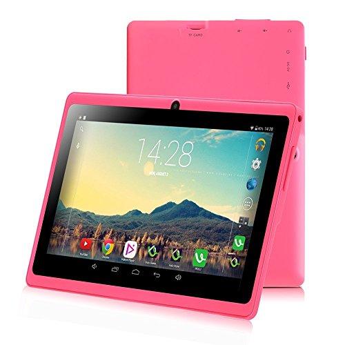 iRULU eXpro 3 Tablet (X3),Google Android 6.0,Quad Core,HD 1024x600,Dual Kamera WiFi 8GB 3D Spiel unterstützt,7 Zoll Tablet mit GMS Certified (Pink 8GB)
