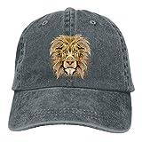 Wfispiy Lion Head Verstellbare Gewaschene Vintage Baseballmützen Trucker Hat