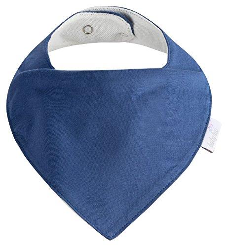 Baby-Lätzchen Set für Jungs 5 Stück, Dreieckstuch aus Baumwolle in den Farben Blau, Hellblau und Weiß,Wasserdicht - Halstuch - Spucktuch - Sabberlätzchen - 3