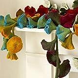 Filz Blumen-girlande - Rot (ca. 160 cm lang)