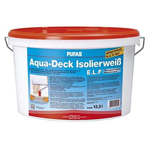 Pufas Aqua-Deck Isolierweiß E.L.F. 12,5L Isolierfarbe (Aqua Deck)