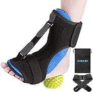 AiBast Plantar Fasciitis Night Splint, 2020 New Upgraded Blue Multi Adjustable Ankle Brace Foot Drop Orthotic
