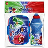 Joy Toy- PJ Masks SUPERPIGIAMINI Set: PORTAMERENDA E Borraccia, Multicolore, Bambini, 1
