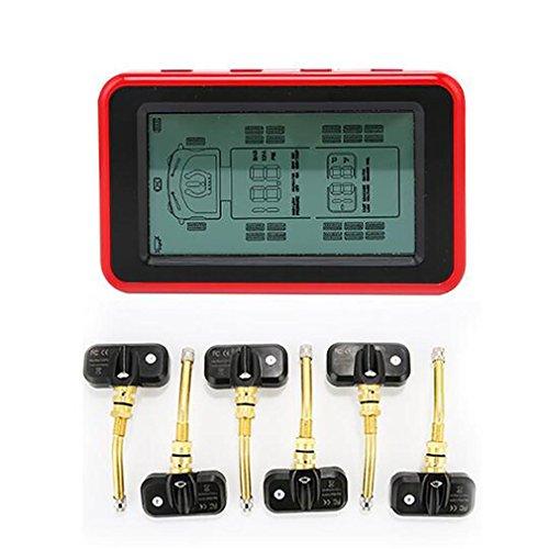 Preisvergleich Produktbild LPY-Drahtloses LCD-Display Digitales Reifendruck-Kontrollsystem,  System mit 4 internen Sensoren für Heimmotoren