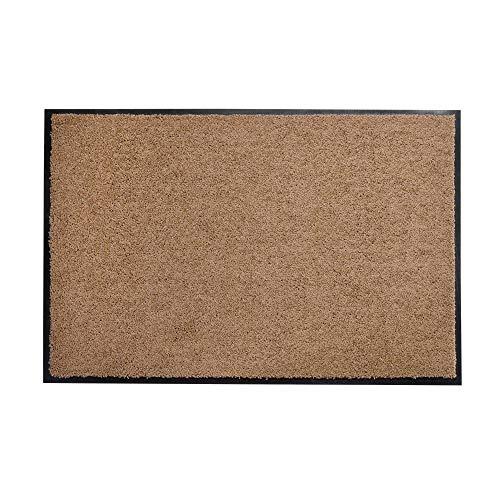 acerto 30242 Alfombrilla antisuciedad Premium ZANZIBAR beige 40x60cm * Extremadamente resistente * Exterior e interior * Resistente a las heladas Libre de PVC - Limpia la puerta de entrada Alfombrilla