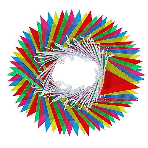 EudoER Wimpelkette aus Nylon, Mehrfarbig, ca. 4,4 m