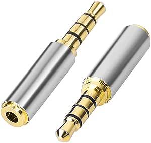 3 5mm Male To 2 5mm Female Audio Adapter Kopfhörer Elektronik